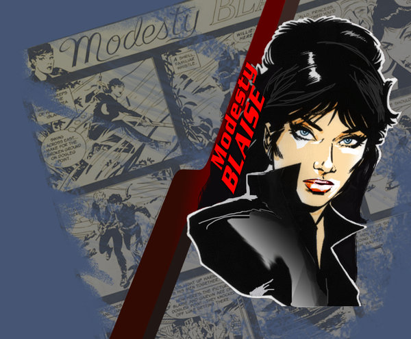 Modesty Blaise Wallpaper Weird to Say That About a